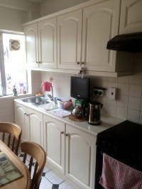 After hand painting of a kitchen in a Dublin home by Abhaile Decorators, Robery Hanvey Ireland