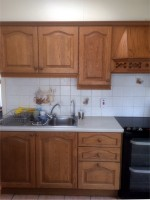 Before hand painting of a kitchen in a Dublin home by Abhaile Decorators, Robery Hanvey Ireland