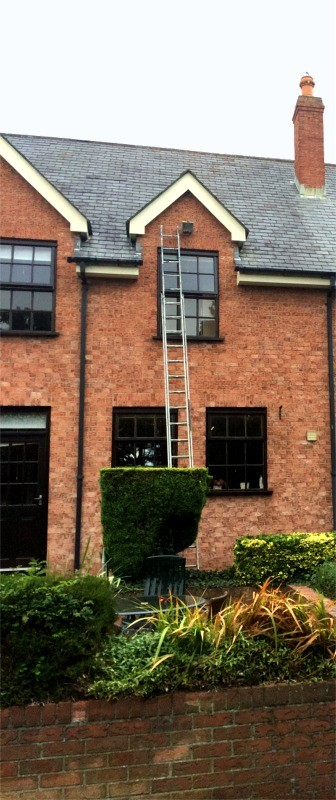 External house painting of a Dublin home by  Abhaile Decorators, Robert Hanvey, Ireland