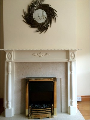 After Fireplace painting in a Dublin Home by Abhaile Decorators, Ireland