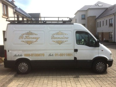 Van of  Robery Hanvey Decorators - Abhaile Decorators, Dublin Ireland