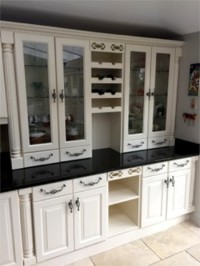 Hand painting kitchen cupboards cream - Quality home decoration by Abhaile Decorators, Ireland