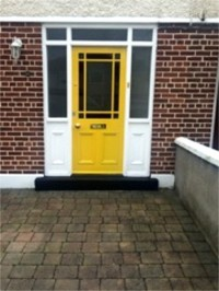 Front door  of a Dublin house after painting  by Abhaile Decorators, Dublin, Ireland